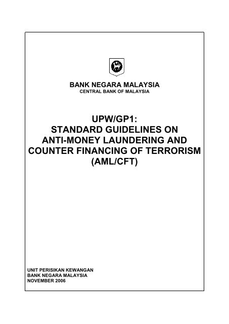 Standard Guidelines Anti-Money Laundering and Counter Financing ...