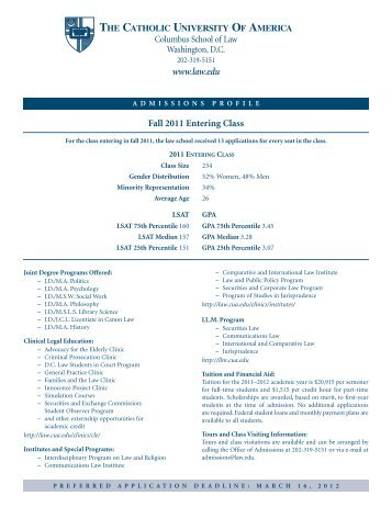 CUA 2004 insert final (Page 1) - Columbus School of Law