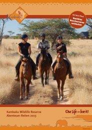 Abenteuer Reiten 2013 - Kambaku Safari Lodge in Namibia