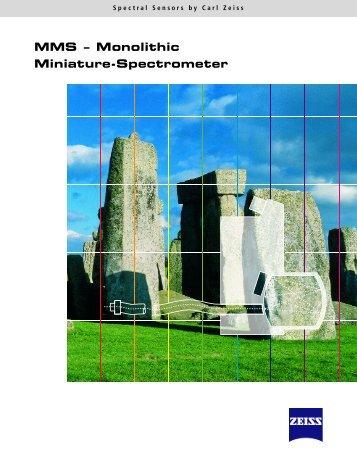 MMS – Monolithic M i n i a t u re - S p e c t ro m e t e r - Photon Lines