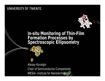 In-situ Monitoring of Thin-Film Formation Processes by ...
