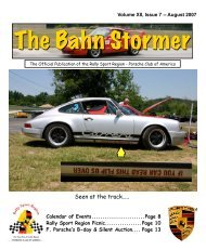 August 2007 Bahn Stormer - Rally Sport Region - Porsche Club of ...