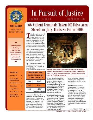 December 2008 - Volume 1, Issue 3 - Tim Harris, Tulsa County ...