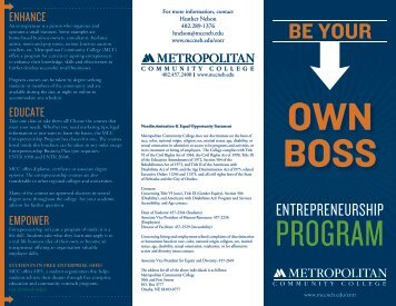 Entrepreneurship Program Brochure - Metropolitan Community ...