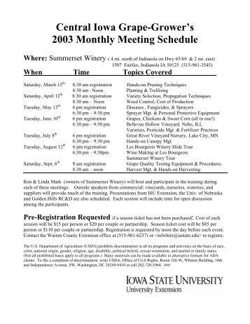 April 12 agenda - Viticulture Iowa State University