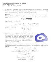 Prova d'esame del 16 luglio 2001 - Sapienza
