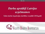 Darba apstākļi Latvijas uzņēmumos - Valsts Darba Inspekcija