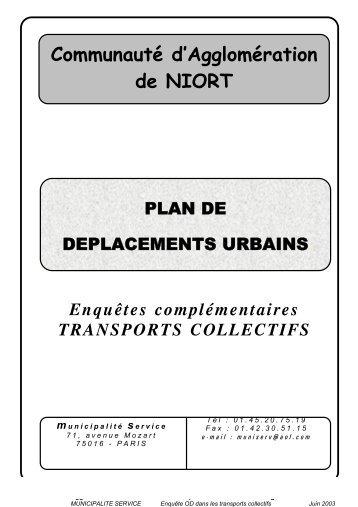 Enquête OD réseau transport 2002 - Communauté d'Agglomération ...
