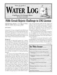 Water Log 26.2 - Mississippi-Alabama Sea Grant Legal Program