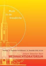 Weihnachtsoratorium 2010 - Kreuzkirche Bonn