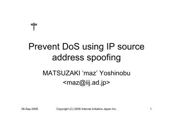 ip spoofing(reflection)
