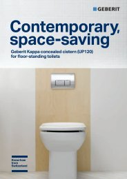 Geberit Kappa concealed cistern (UP120) for floor ... - Products