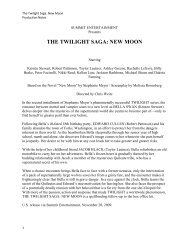 THE TWILIGHT SAGA: NEW MOON - Visual Hollywood