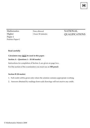 Paper 1 - All Saints Secondary School