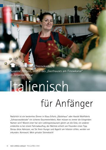 Susanne Hergert, Wirtin Des - Gasthaus am Finowkanal