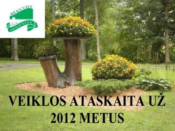 Seniūnijos veiklos 2012 m. ataskaita - Šiaulių miesto savivaldybė