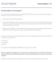 Formulaire d'adhésion - HP