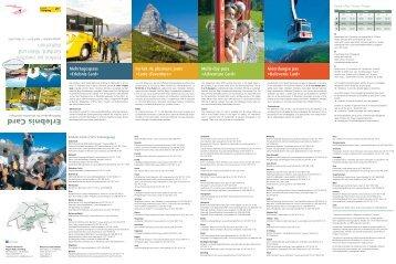Erlebnis Card - Matterhorn Gotthard Bahn