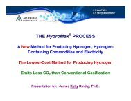 THE HydroMax PROCESS