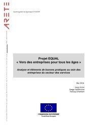 Projet EQUAL « Vers des entreprises pour tous les âges » - ARETE