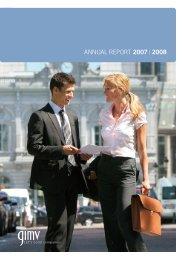 ANNUAL REPORT 2007   2008 - Gimv