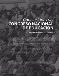 Conclusiones Congreso Nacional de Educación - Revista Docencia