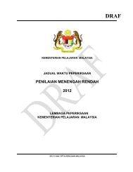 Jadual Waktu PMR 2012 - Kementerian Pelajaran Malaysia