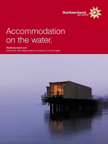 Accommodation on the water. - OBrochure