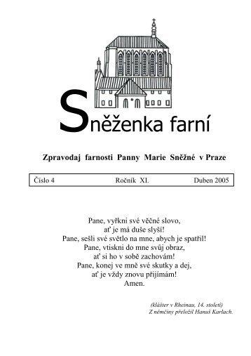 Duben - Farnost Panny Marie Sněžné v Praze
