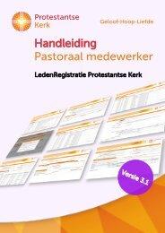 Handleiding Pastoraal medewerker - Protestantse Kerk in Nederland