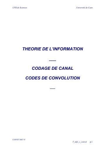 codage de canal codes de convolution