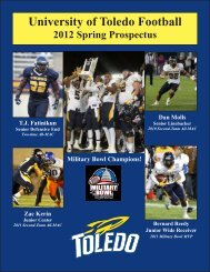 2012 Toledo Spring Football Prospectus - University of Toledo ...