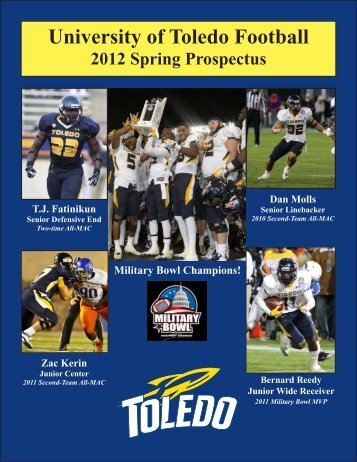 2012 Toledo Spring Football Prospectus - University of Toledo ...