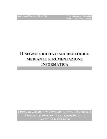 disegno e rilievo archeologico - Portale di Archeologia Medievale