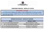 CONCURSO PÚBLICO – EDITAL Nº 01/2012 - Prefeitura de ...