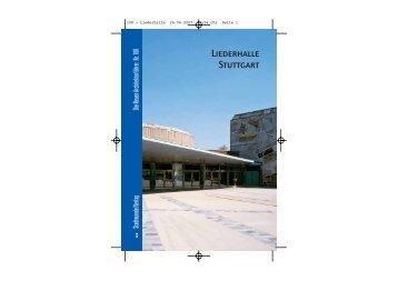 Liederhalle Stuttgart - und Kongresszentrum Liederhalle