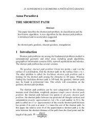 Anna Porazilová THE SHORTEST PATH 1 Introduction