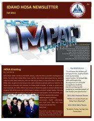 idaho hosa newsletter - Idaho Professional-Technical Education ...