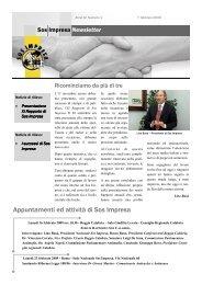 Anno IV numero 1 - febbraio 2009 - Sos Impresa
