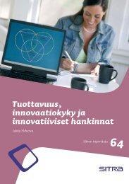 Tuottavuus, innovaatiokyky ja innovatiiviset hankinnat - Sitra