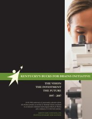Bucks for Brains - Council on Postsecondary Education
