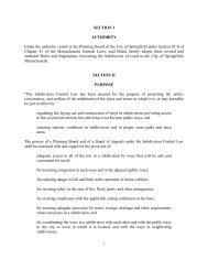 Subdivision Regulations - City of Springfield