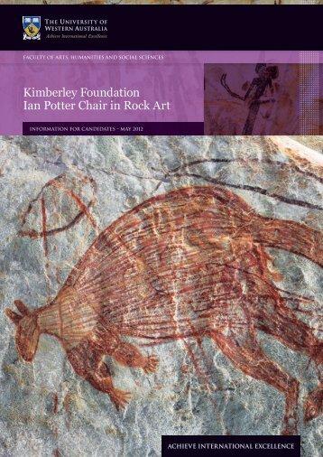 Kimberley Foundation Ian Potter Chair in Rock Art - His.admin.uwa ...