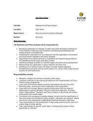 COMMUNICATIONS OFFICER - Focus Ireland