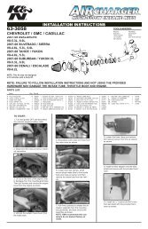K/&N 60-1310 High Performance Custom Assembly K/&N Engineering