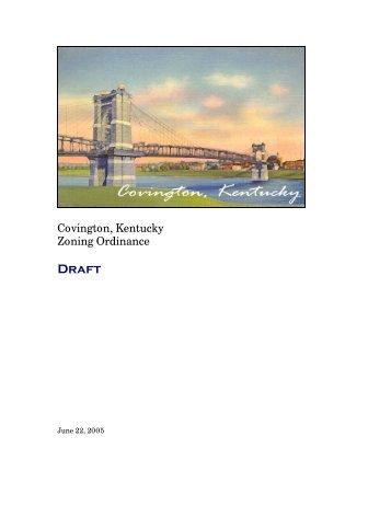 Covington, Kentucky Zoning Ordinance - The City of Covington