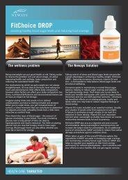 FitChoice DROP Fact Sheet - Neways Australia
