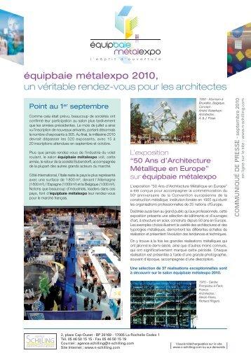 équipbaie métalexpo - Agence Nicole Schilling Communication