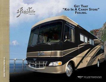 2009 Fleetwood Fiesta Brochure PDF with Floorplans and Specs