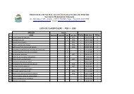 lista de classificação - peb ii - 2009 - Peruíbe